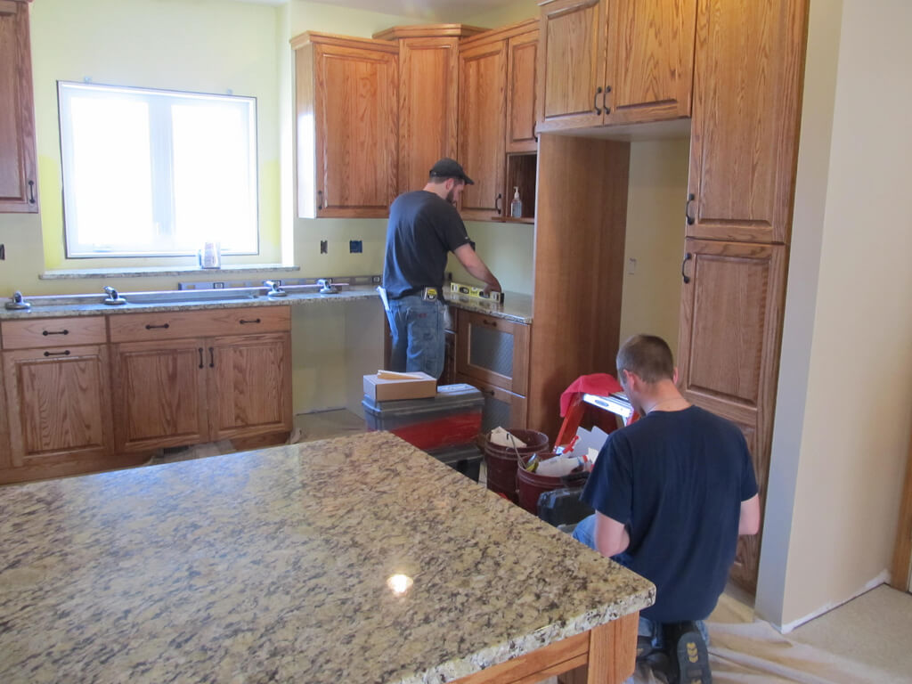 Lovely Granite, Countertop Install Helpers