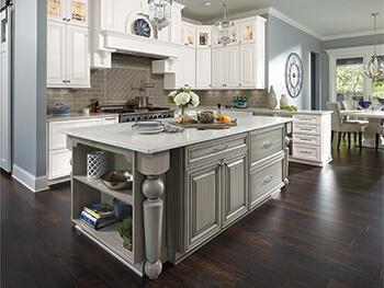 White kitchen for Omega cabinetry, Karen Melvin Photography